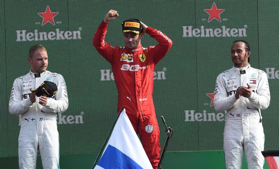 Leclerc corona a Ferrari en el GP de Italia