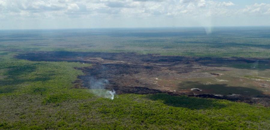 Controlan en su totalidad incendio en reserva de Quintana Roo