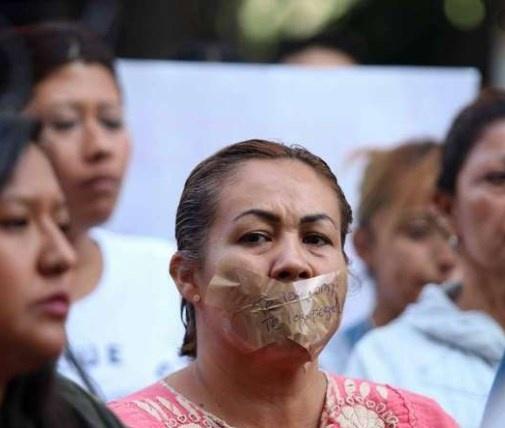 En marcha del silencio, mujeres exigen justicia a feminicidios