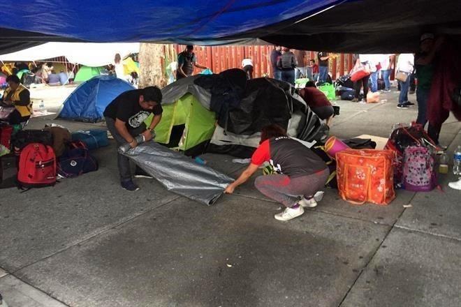 Retiran plantón de San Lázaro integrantes de la CNTE