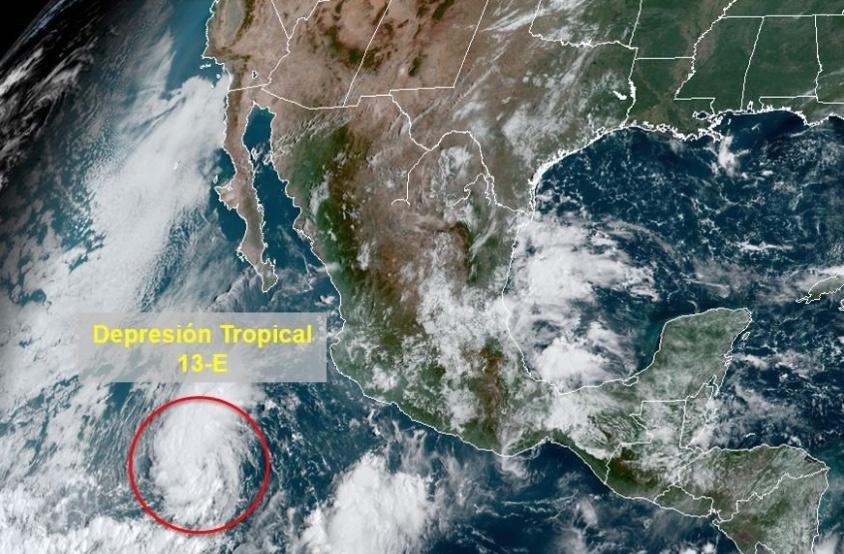 Se forma ciclón en costas de Baja California Sur