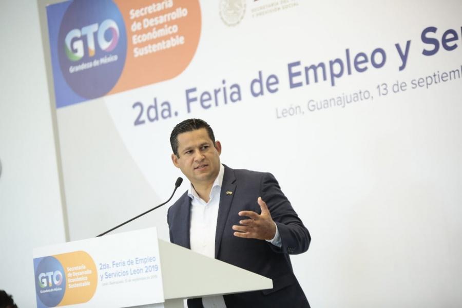 Gobernador destaca a Guanajuato como el sexto lugar en generación de empleos