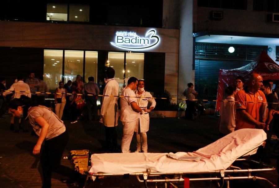Suman 11 muertos por incendio en hospital de Río de Janeiro