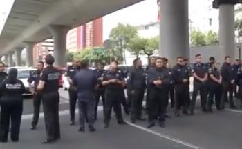 Policías Federales bloquean acceso a Aeropuerto