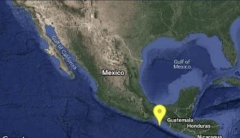 Reportan sismo magnitud 4.7 en Pijijiapan, Chiapas