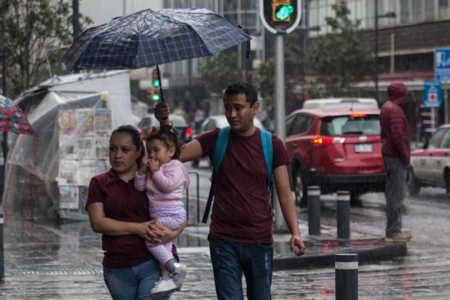 Se prevén lluvias y chubascos para el Valle de México este lunes