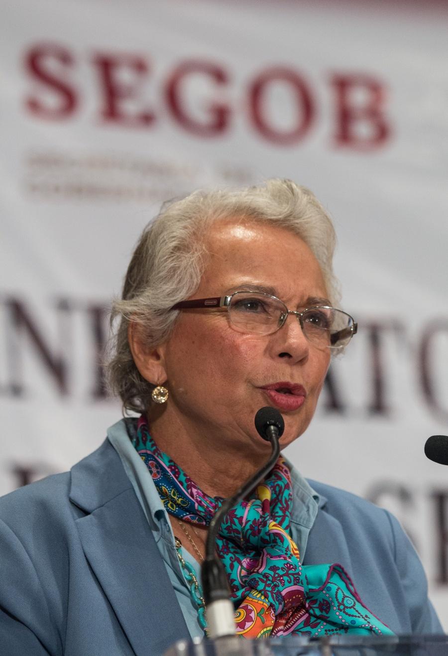 Analiza Gobernación Alerta de Género en CDMX: Sánchez Cordero