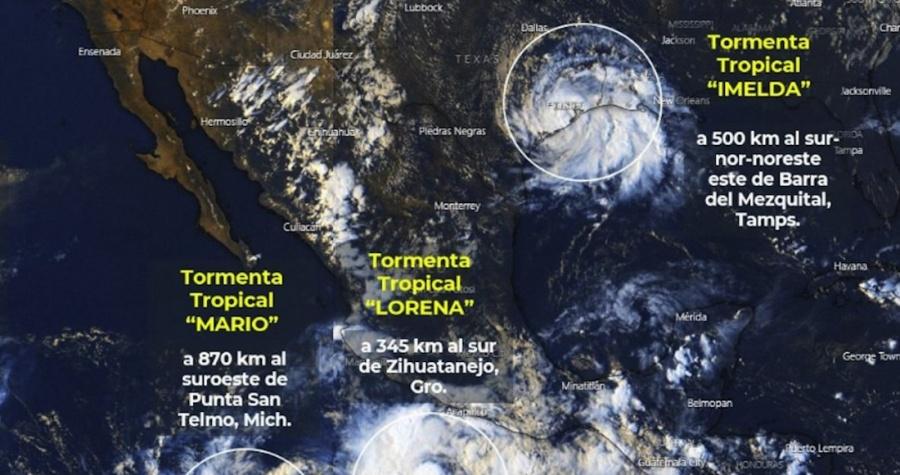 Alerta Conagua en seis estados por tormenta tropical Lorena