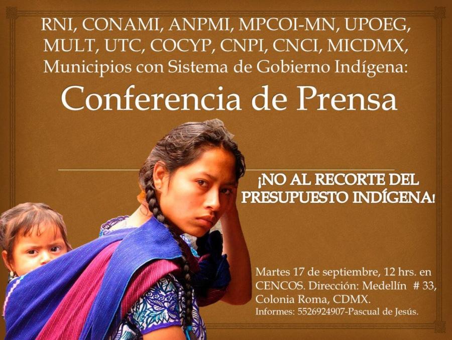 Pueblos indígenas piden a AMLO rectifique disminución de presupuesto al INPI para 2020