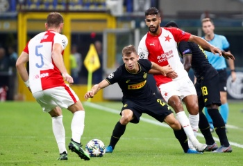 Inter falla en la Champions ante el Slavia Praga