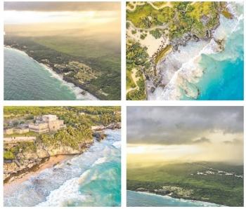 Playas mexicanas atraen turismo, pese a sargazo