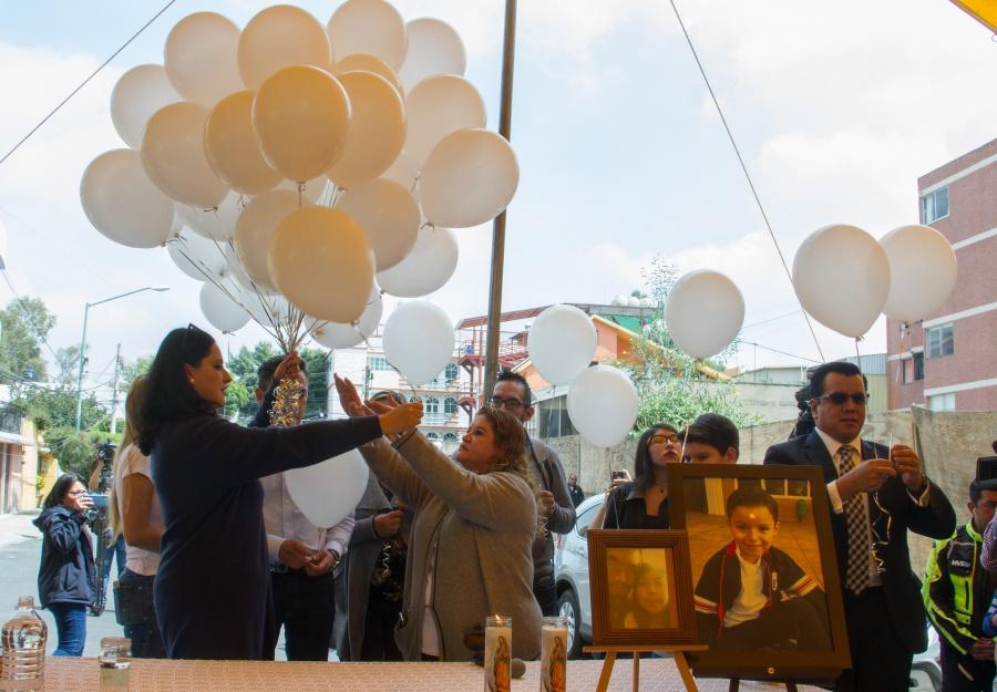 Realizan misa en recuerdo de los menores fallecidos el Colegio Rébsamen