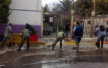 Sedena aplica Plan DN-III en Tecámac tras lluvias