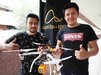 Politécnicos desarrollan dron capaz de localizar víctimas de sismos