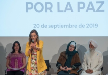Gutiérrez Muller pide ejercer la paz con acción y respeto al prójimo