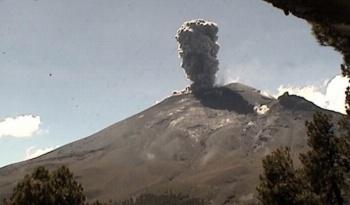 Popocatépetl registra 17 explosiones en las últimas 24 horas