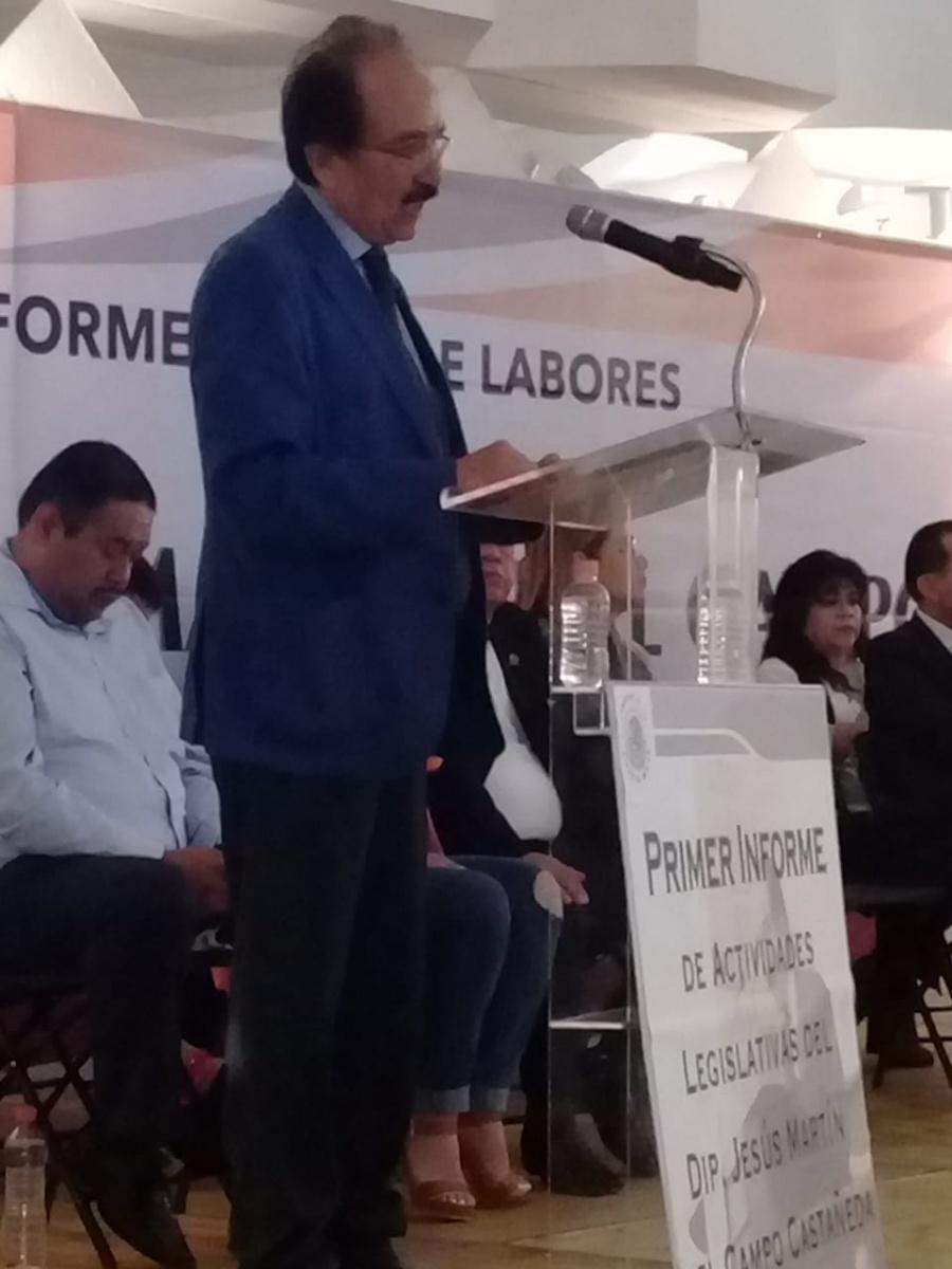 Destaca diputado Jesús Martín del Campo atención a mil 495 peticiones de iztacalquenses