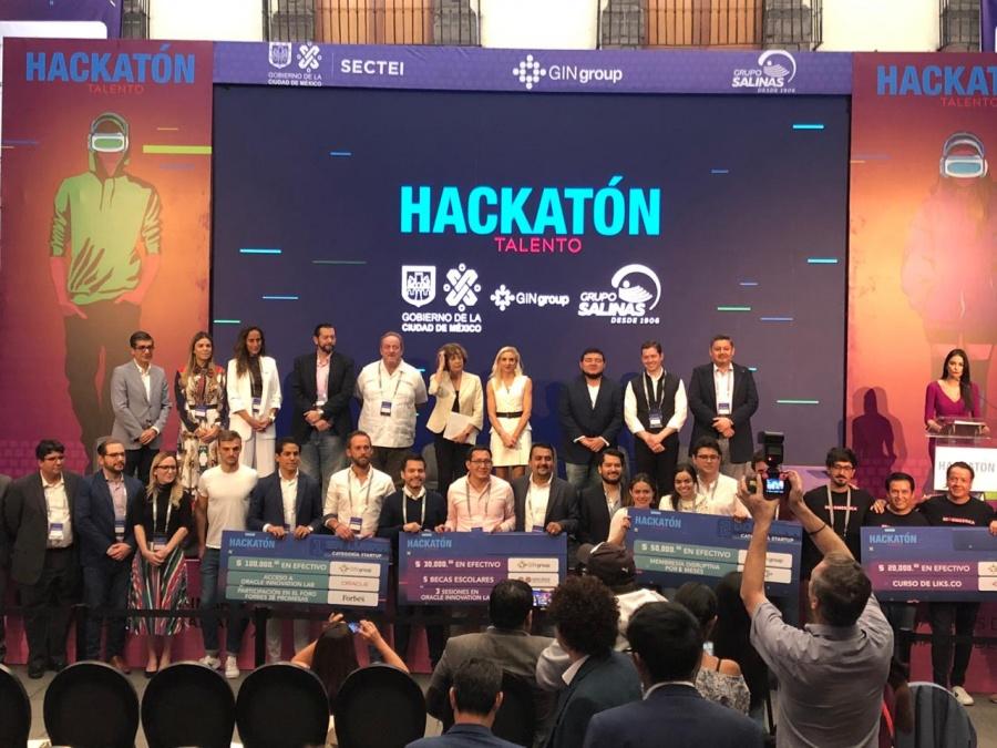 """Gana proyecto de movilidad """"Yoyo"""" el Hackatón Talento MX 2019"""