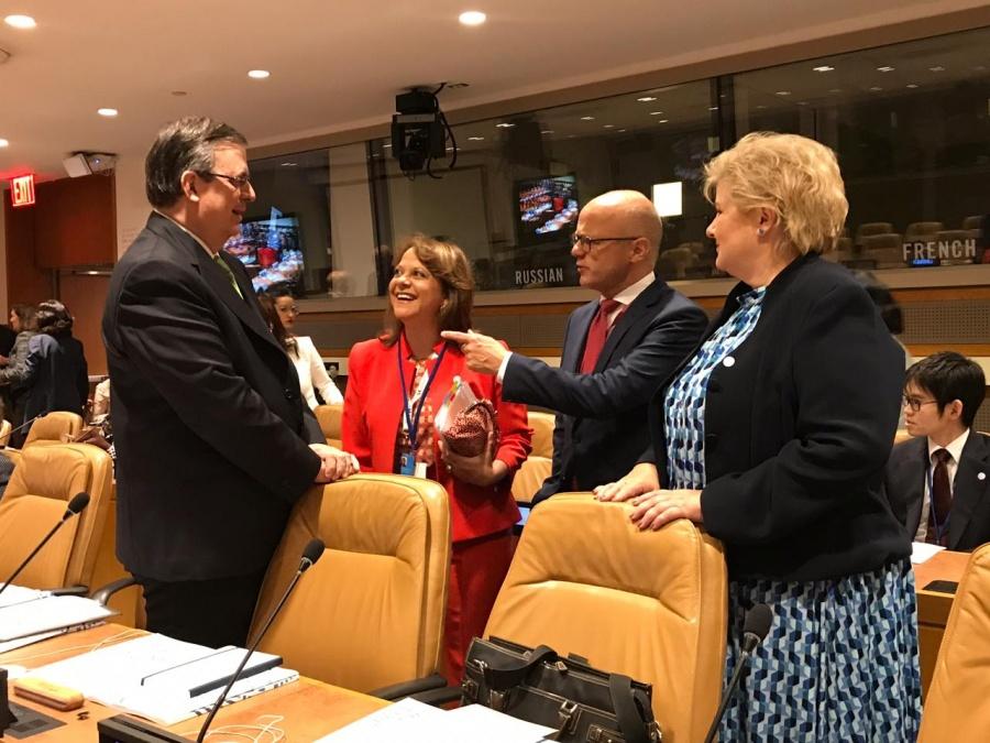 Urge Ebrard, ante Asamblea de la ONU a reducir impacto del cambio climático