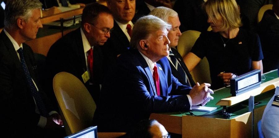 Llega Donald Trump de manera sorpresiva a cumbre sobre clima en la ONU