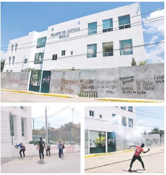 Con pintas y piedras Normalistas exigen evidencias de caso Iguala
