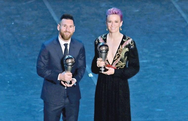 Messi y Rapinoe triunfan como Mejores Del Mundo