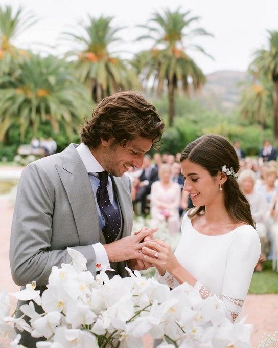 Así derrochan amor Feliciano López y Sandra Gago después de su boda