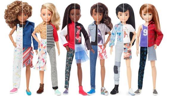 Mattel lanza línea de muñecas de género neutro
