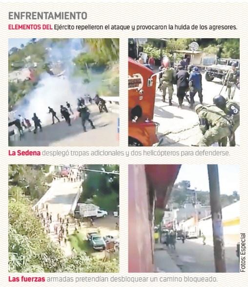 Civiles emboscan a Ejército; asesinan a 3