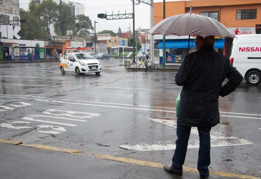Cielo nublado y lluvias para este sábado en la CDMX