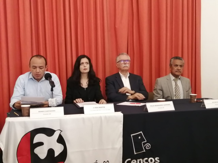 No necesitamos cordones de paz, señala el Comité del 68