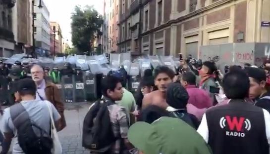 Cuatro heridos en marcha del 2 de octubre