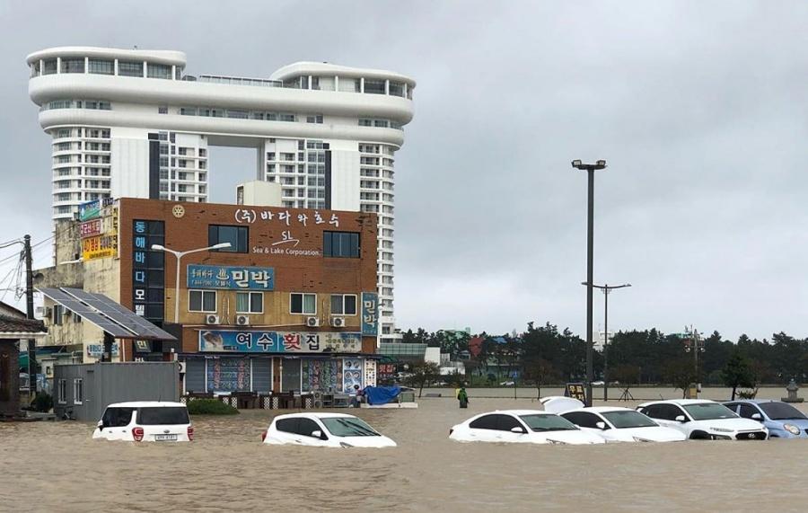 Tifón Mitag deja cuatro muertos a su paso por Corea del Sur