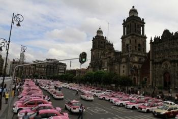 Puntos que bloquearán taxistas en la CDMX este lunes