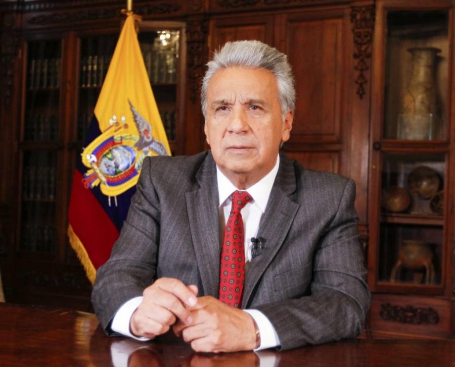 Presidente Lenín Moreno culpa a Maduro y Correa por las protestas en Ecuador