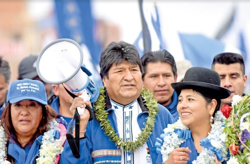 Reelección de Evo se define en 2da vuelta