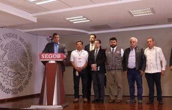Alcanzan primeros acuerdos en Segob taxistas inconformes. No habrá bloqueos