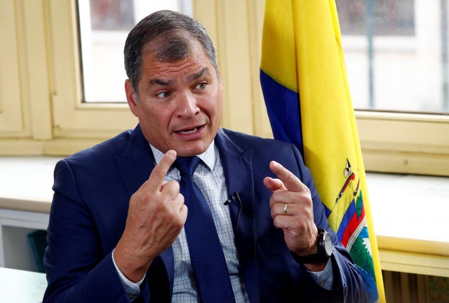 Correa niega orquestar golpe de estado en Ecuador contra Lenín Moreno