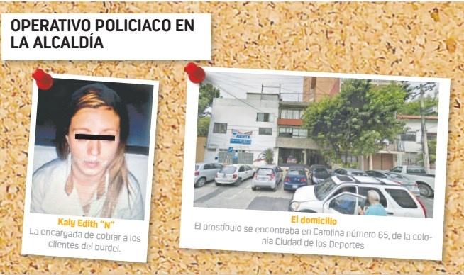 """Policía de B. Juárez y PGJ cierran """"casa de citas"""""""