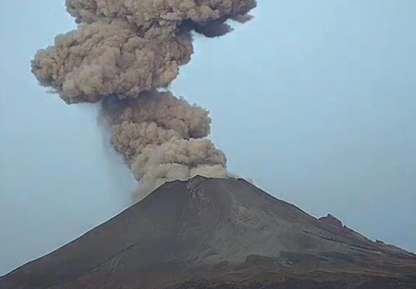 Popocatépetl emite 177 exhalaciones en las últimas 24 horas