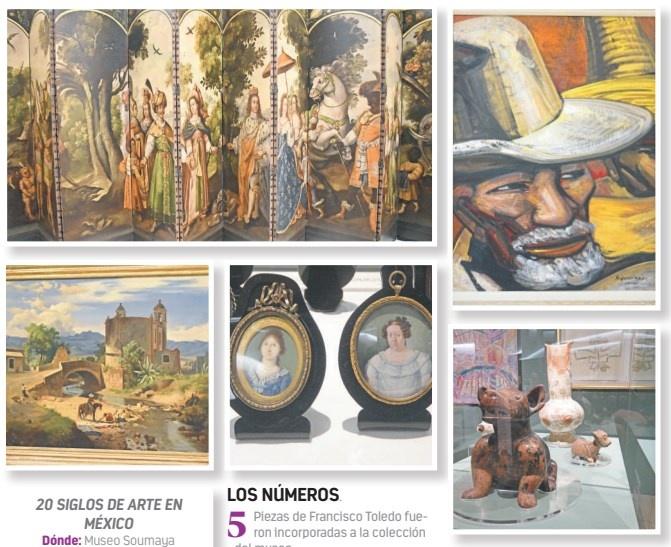 Revisan 20 siglos de arte en México en el Museo Soumaya