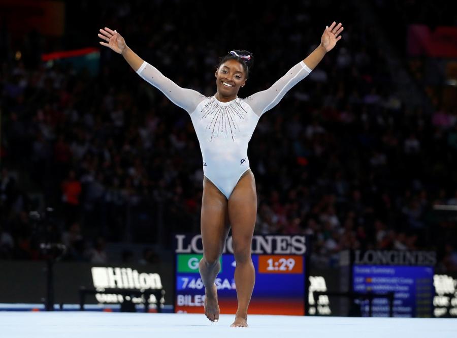 Simone Biles se corona por quinta vez en el Mundial de Gimnasia Artística