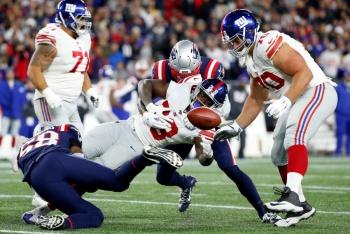 NFL: Patriots derrotan a Giants y se mantienen invictos