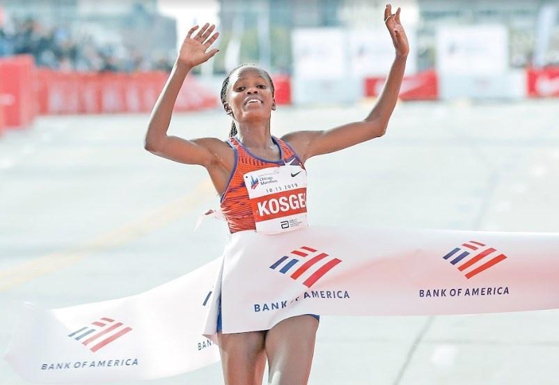 Brigid Kosgei rompe récord mundial y hace historia en EU