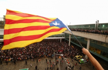Protestas se salen de control en Cataluña