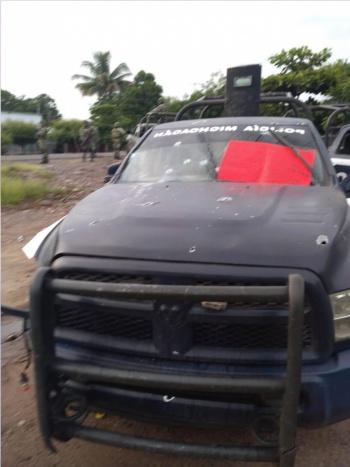 Audio revela que policías abatidos en Michoacán pidieron auxilio