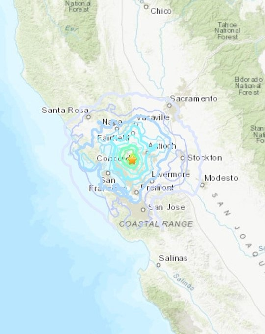 Se siente en California sismo de 4.5 grados
