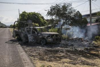 Fueron más de 30 delincuentes los que emboscaron a policías en Michoacán