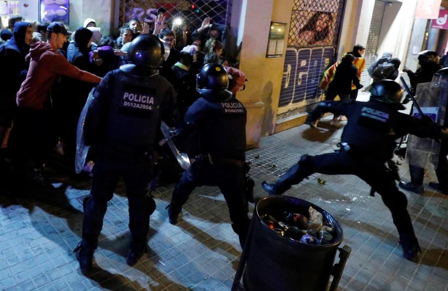 Protestas dejan 125 heridos en Barcelona