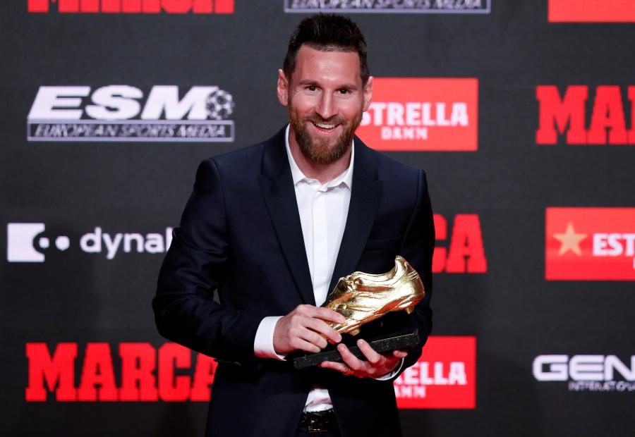 Messi recibe su sexta Bota Oro